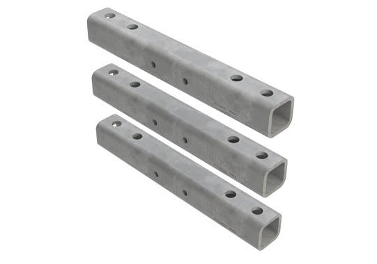 Horizontal hanger bracket_mounting rail 3 piece_ set