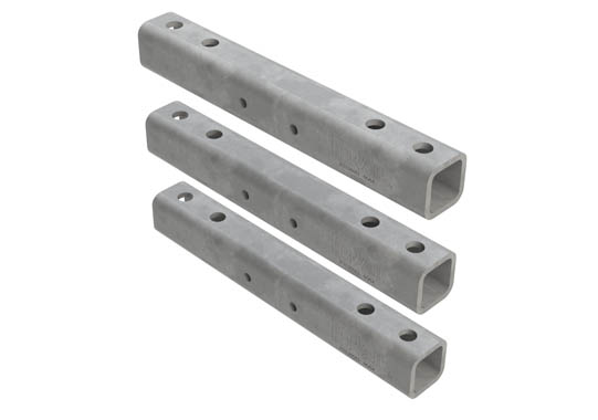 Horizontal hanger bracket_mounting rail 3 piece_ set