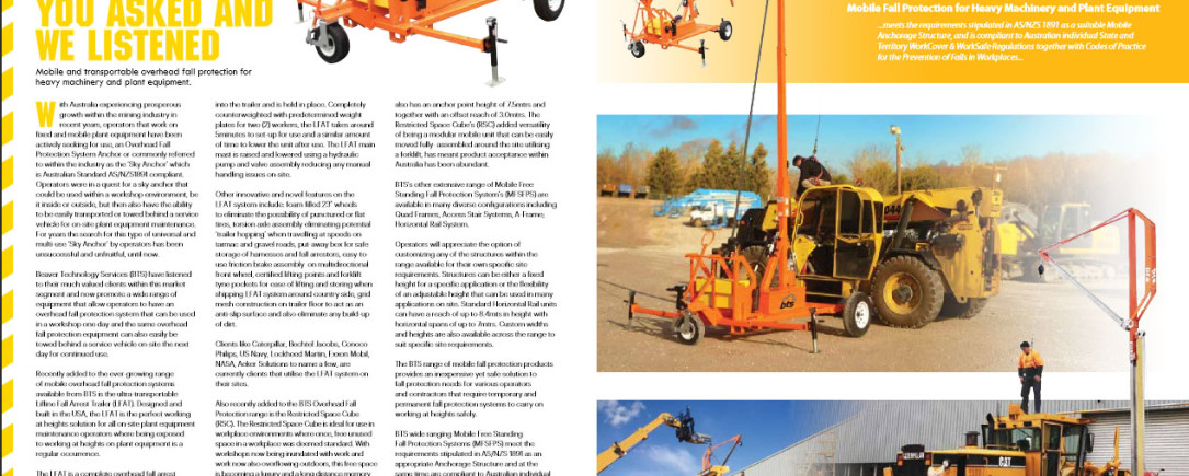 Advertorial in Australian Mine Safety Journal