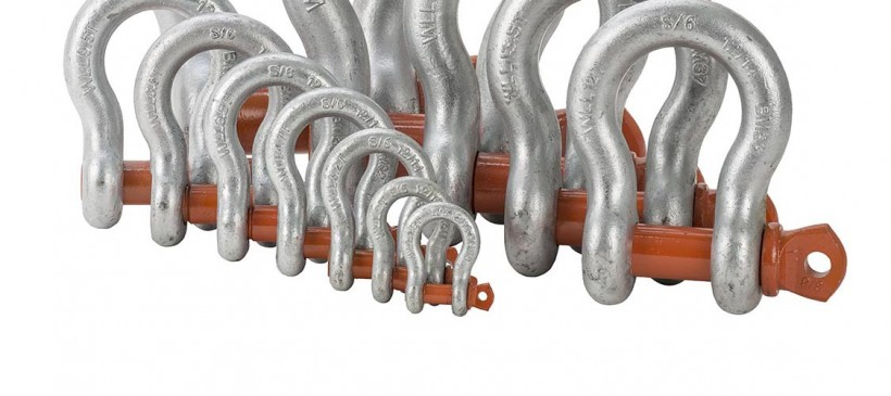 BTS Alloy Grade 'S/6' Shackles with Orange Pin