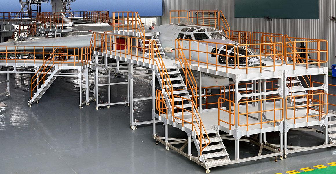 Aircraft Docking platform Slider