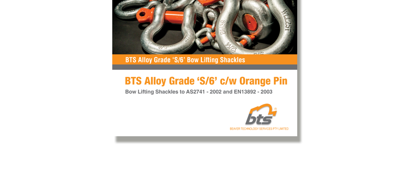 BTS Grade S Orange Pin Lifting Shackles Brochure