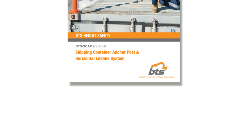 BTS Shipping Container Anchor Post & HLS Brochure