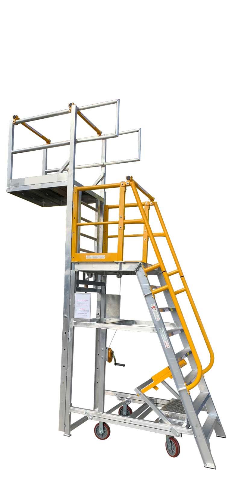 ADJP1400 Adjustable Cantilever Work platform Raised