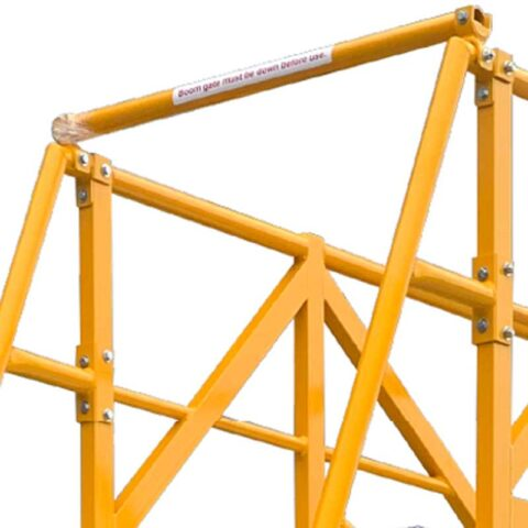 Cantilever Platform Features Front safety Boom Arm