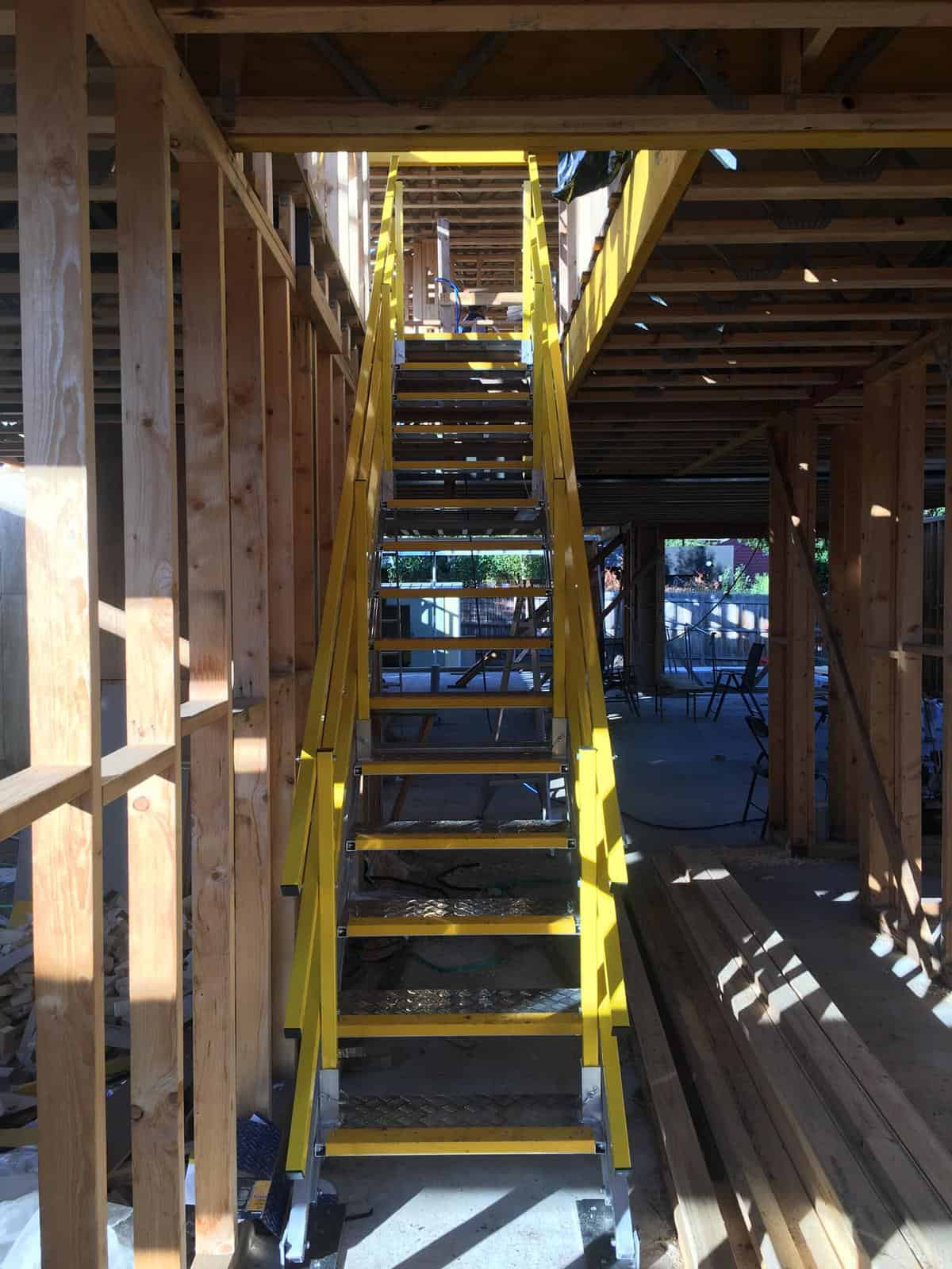 Self Levelling Stairs - IN USE